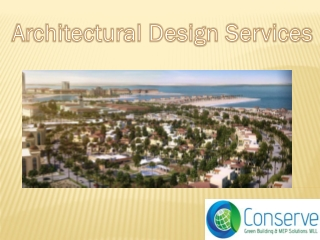 Architectural Design Services Company Qatar, 3D Architecture Engineering Drawing Services Najma, Doha in Qatar | Conserv