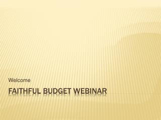 Faithful Budget webinar