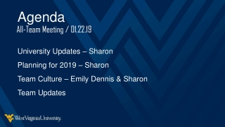 Morgantown Campus Update