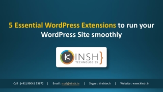 5 Essential WordPress Extensions to run your WordPress Site smoothly
