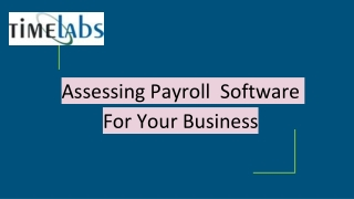 Assessing Payroll Software For Business