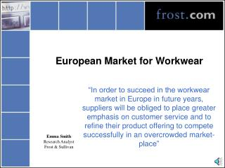 European Market for Workwear