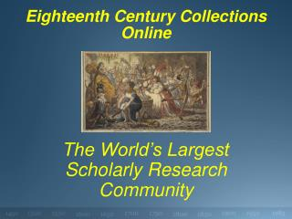 Eighteenth Century Collections Online