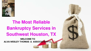 Bankruptcy Services in Southwest Houston