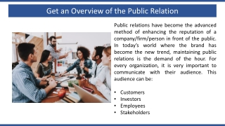 Get an Overview of the Public Relation