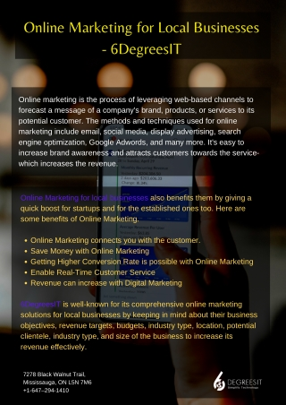 Online Marketing for Local Businesses - 6DegreesIT