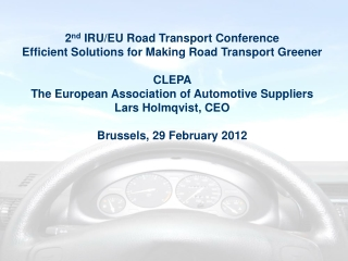 CLEPA The European Association of Automotive Suppliers