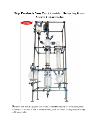 Top Products You Can Consider Ordering from Ablaze Glassworks