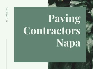 Paving contractors Napa