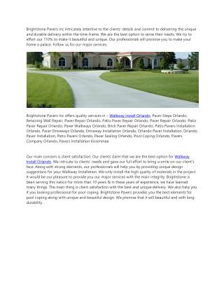 Walkway Install Orlando
