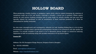 Hollow Board