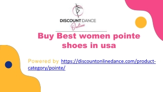 Buy Best women pointe shoes in usa