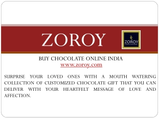 Buy Chocolates Online On Every Occasion at Zoroy