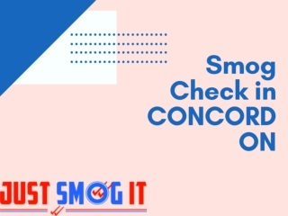 Smog Check in CONCORD ON