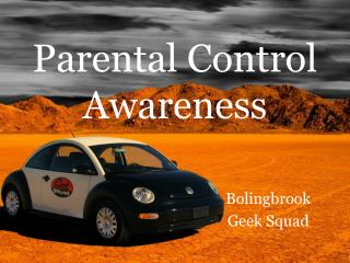Parental Control Awareness