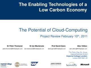 The Enabling Technologies of a  Low Carbon Economy