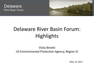 Delaware River Basin Forum: Highlights