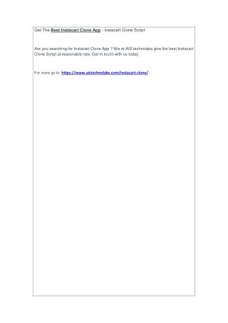Get The Best Instacart Clone App - Instacart Clone Script