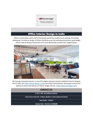 Office Interior Design in India