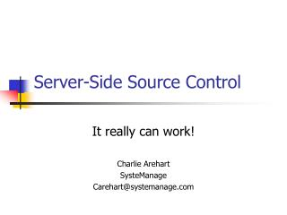 Server-Side Source Control