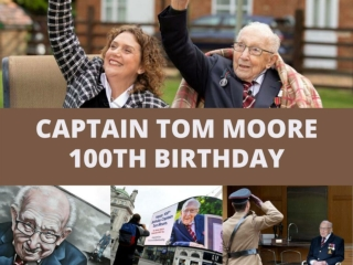 Britain hails 'Captain Tom' on 100th birthday