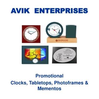 Promotional Clocks,Tabletops, Photoframes & Mementoes