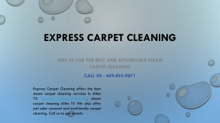 Carpet Cleaning's Tale And How It ended