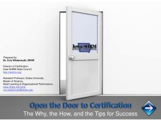Open the Door to Certification