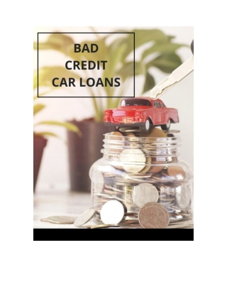 BAD CREDIT CAR LOANS TORONTO WITH NO PAYMENT PENALTIES