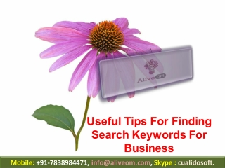 Useful Tips For Finding Search Keywords For Business