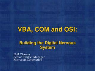 VBA, COM and OSI: