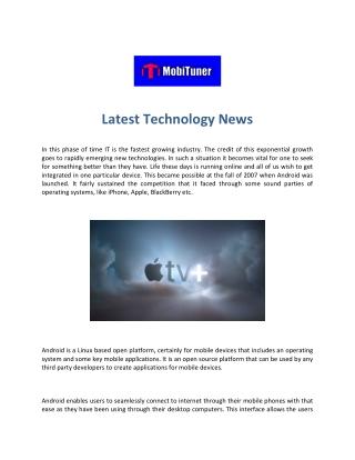 MobiTuner - Current Technology News - Computer Technology