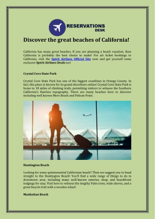 Discover the great beaches of California!