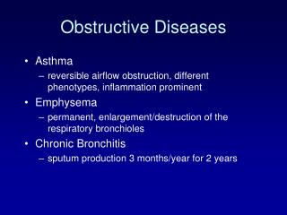 Obstructive Diseases