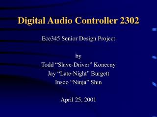Digital Audio Controller 2302
