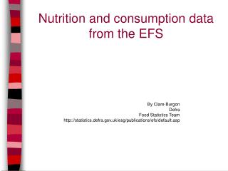 Nutrition and consumption data from the EFS