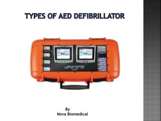 Types Of AED Defibrillator