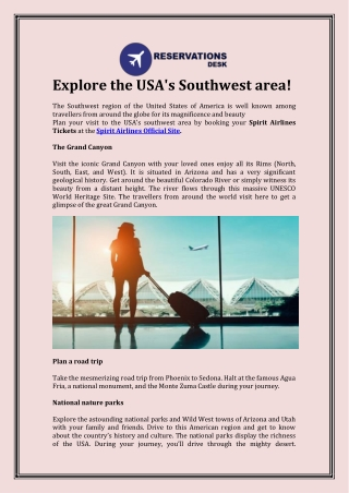 Explore the USA's Southwest area!