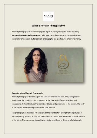 What is Portrait Photography?