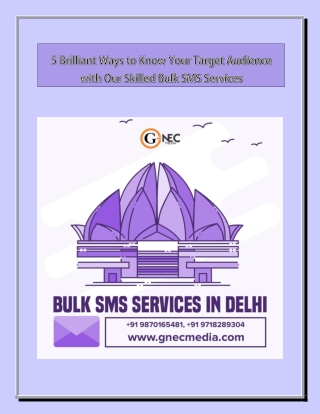5 Brilliant Ways to Know Your Target Audience with Our Skilled Bulk SMS Services