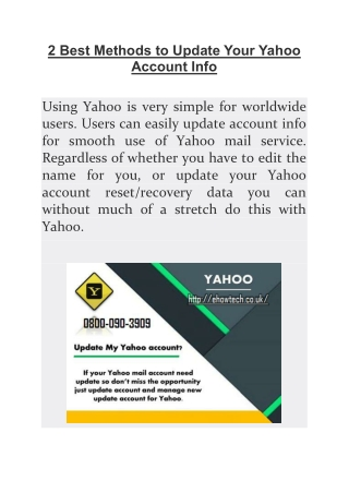 2 Best Methods to Update Your Yahoo Account Info