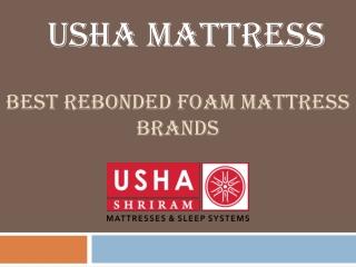 Buy Best Rebonded Foam Mattress