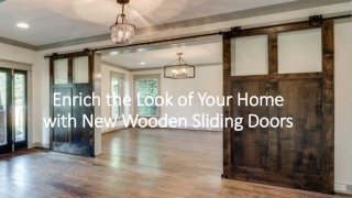 Few things to know about wooden sliding door fittings advantages