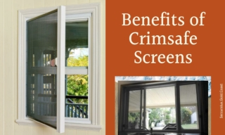 Benefits of Crimsafe Screens