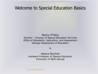 Welcome to Special Education Basics