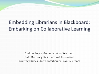 Embedding Library E-Resources