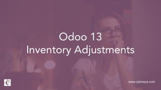 Odoo 13 Inventory Adjustments