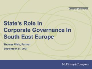 State s Role In  Corporate Governance In South East Europe