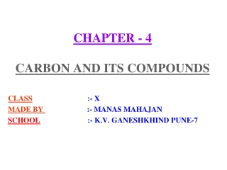 Carbon  Its Compounds