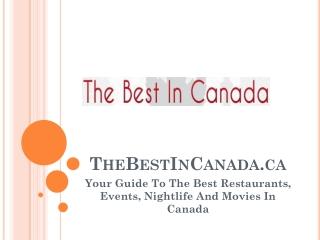 The Best In Canada.ca